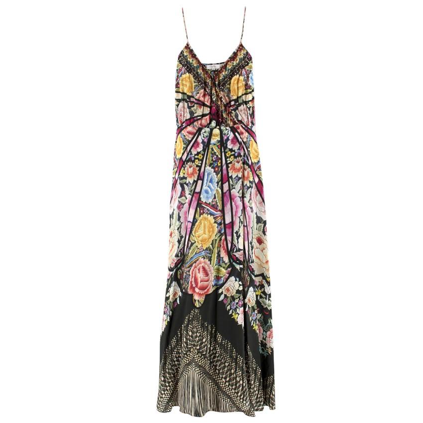 Camilla Floral Embellished Maxi Wrap Dress