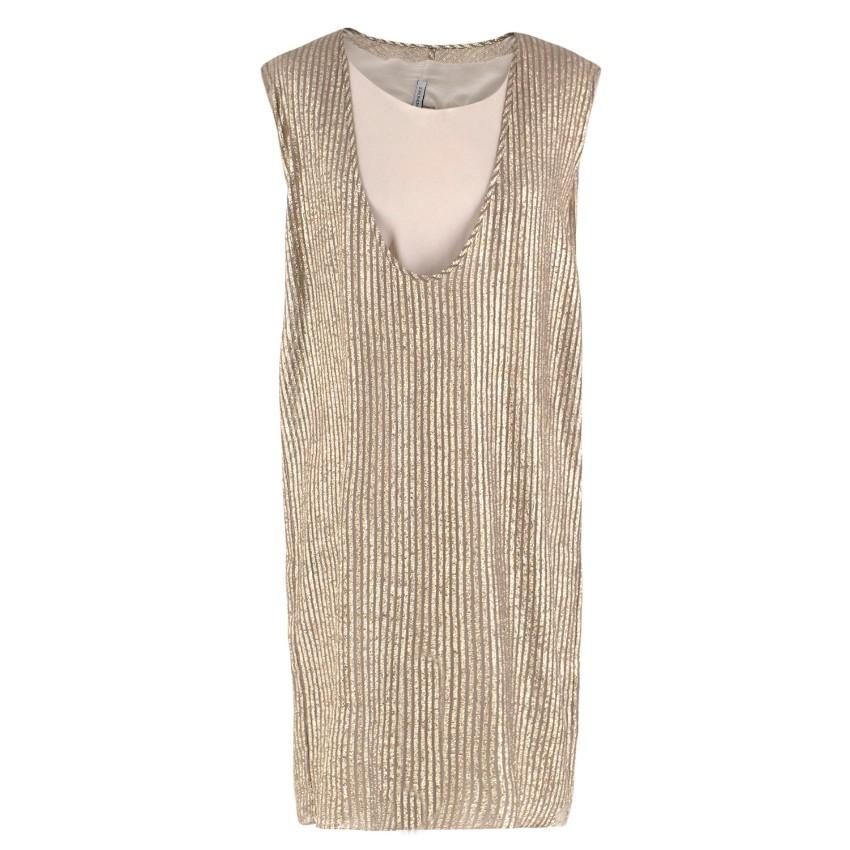 Scanlan & Theordore Gold Pinstripe Shift Dress