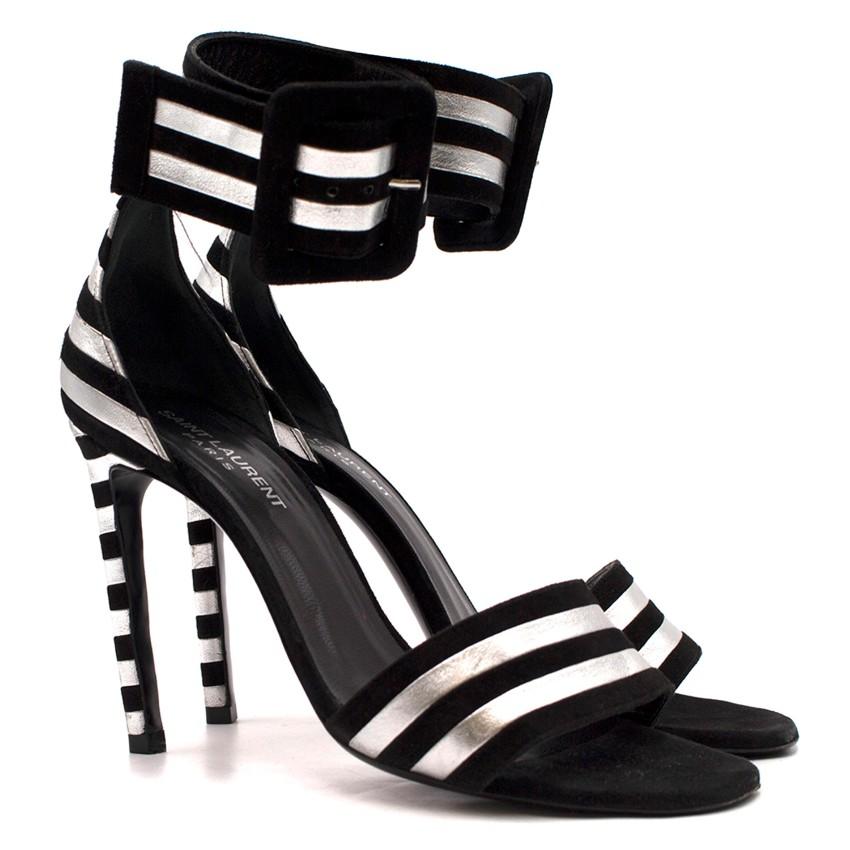 Saint Laurent Paloma Striped Sandals
