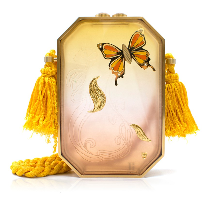 Thale Blanc Flutter Of Hope Perspex Butterfly Clutch