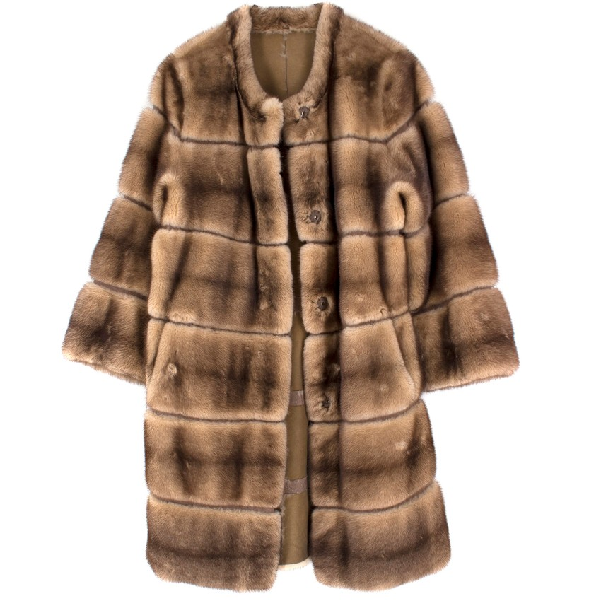 Birger Christensen Reversible Mink Fur Coat