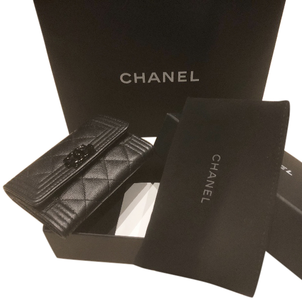 348784f0ccd1 Chanel So Black Card Holder | HEWI London