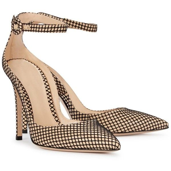 Gianvito Rossi Sofia Mesh And Leather Pumps