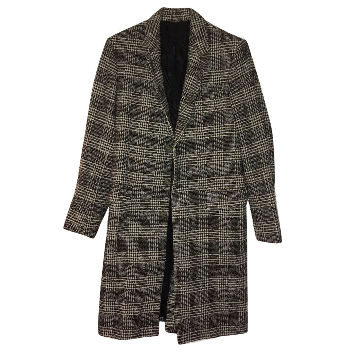 Ami houndstooth wool coat