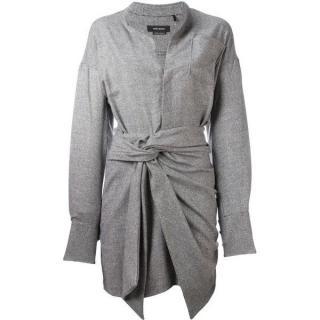 Isabel Marant 'Khol' knot-front knit shirt Dress