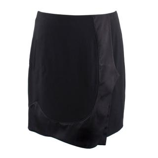 Givenchy Black Satin Panelled Mini Skirt