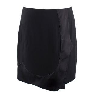 Givenchy Black Satin Panelled Mini Skirt