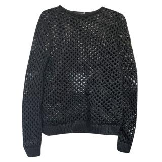 T by Alexander Wang Black Fishnet Sweater