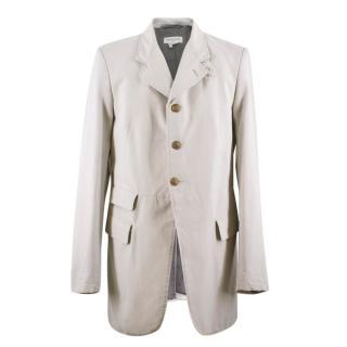 Dries Van Noten Stone Grey Cotton-Blend Jacket