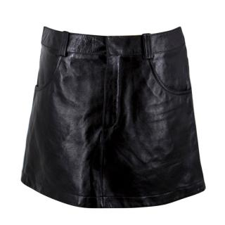 Chloe Black Leather Miniskirt