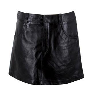 Chloe Black Leather Miniskirt