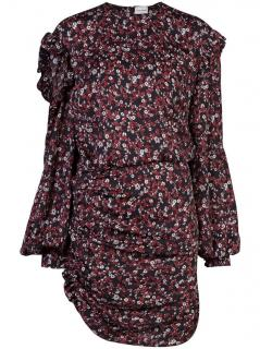 Magda Butrym Acapulco Floral Silk Mini Dress
