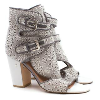 Laurence Decade Grey Floral Cut Out Sandals