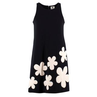 Lisa Perry Fleurty Wool A-line Dress