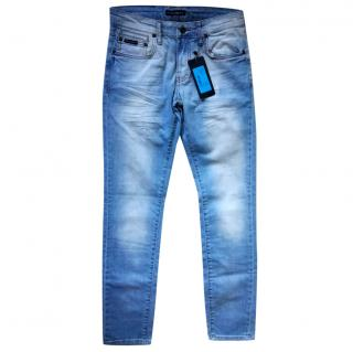 Dolce & Gabbana Blue Denim Distressed Effect Jeans
