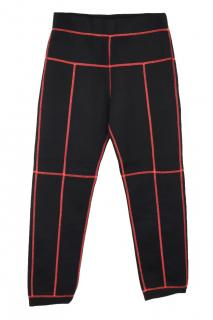 Christopher Kane scuba coverstitch grid black joggers