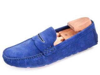 Louis Vuitton men's suede penny loafers