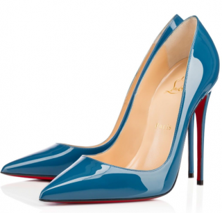 Christian Louboutin So Kate Patent Ocean 120mm pumps