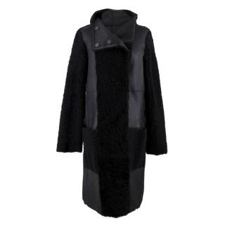 Yves Salomon Reversible Leather & Shearling Coat