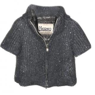 Herno knit sequin jacket