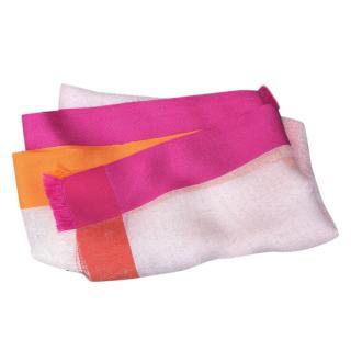 Loro Piana Colour-Block Linen & Silk Scarf