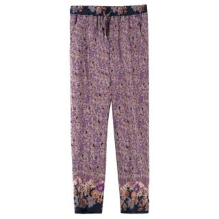 Etro Silk Light-weight Floral Trousers