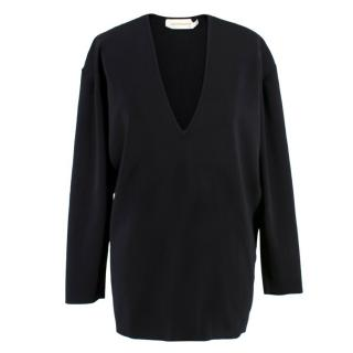 Zimermann Black Ribbed Oversize Top