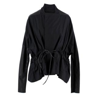 Rick Owens Black Bow Belted Jacket