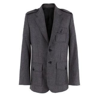 Balenciaga Men�s Grey Wool Blazer