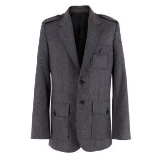 Balenciaga Men�s Grey Wool Blazer