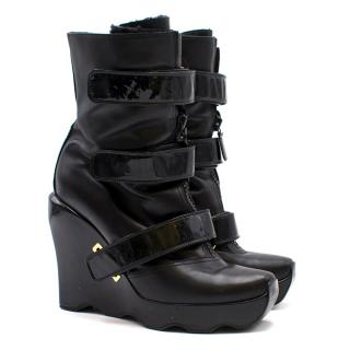 Louis Vuitton Limited Edition Leather Wedge Boots