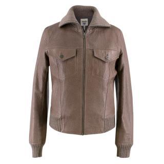 Hermes Brown Leather Jacket