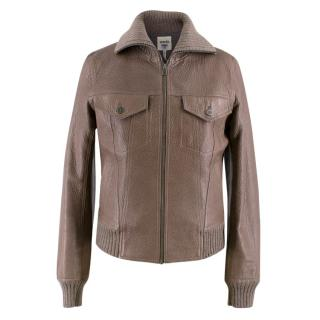 Hermes Brown Leather Jacket