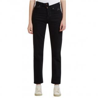 Saint Laurent  D21 Asymmetric High Waisted Slim Fit Jeans