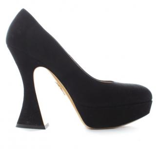 Charlotte Olympia 'Millicent' Suede Platform Pumps
