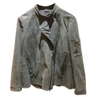 Brunello Cucinelli Suede biker jacket