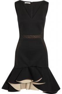 Antonio Berardi Ruffled Modal-Jersey and Lace Dress