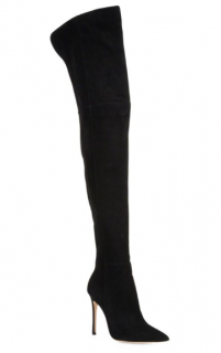Gianvito Rossi Lea Cuissard Over-The-Knee Suede Boots