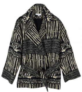 Iro abstract design double breasted jacket
