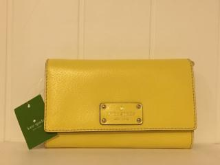 Kate Spade Yellow Clutch