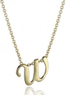 Roberto Coin 18k Gold W Pendant Necklace