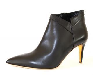 Rupert Sanderson Clare Black Kid Leather Heel Booties