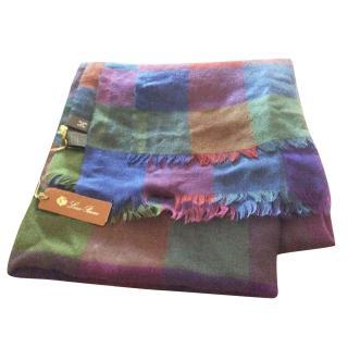 Loro Piana Multi coloured cashmere/silk scarf