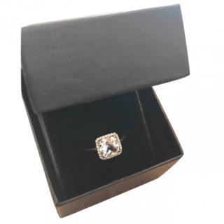 Gassan Diamonds white topaz halo ring