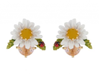 Les Nereides Daisy Jewelled Stud Earrings