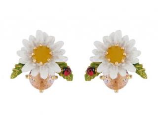 Les Nereides Daisy Jewelled Stud Earrings