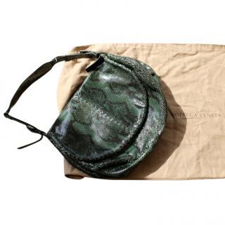 Bottega Veneta Emerald Snakeskin Shoulder Bag