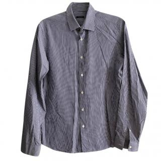 Miu Miu White/Black Candy Striped Long Sleeve Shirt
