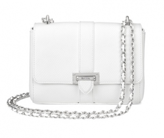 Aspinal of London alabaster white Lottie bag