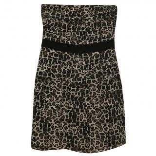 Sandro Paris Animal Print Mini Dress